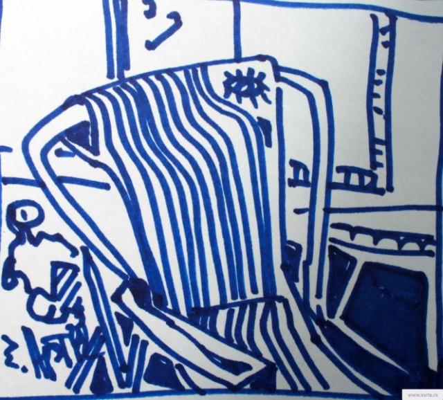 Сломаное кресло earta.ru рисунок / набросок / фото