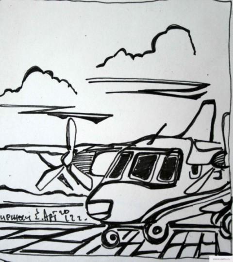 Самолет в киржаче рисунок/фото