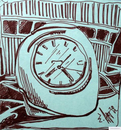 Будильник натюрморт earta.ru рисунок / набросок / фото