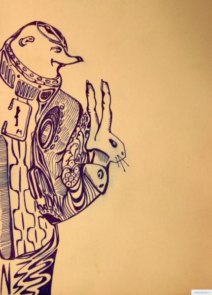 Философ и заяц рисунок/фото