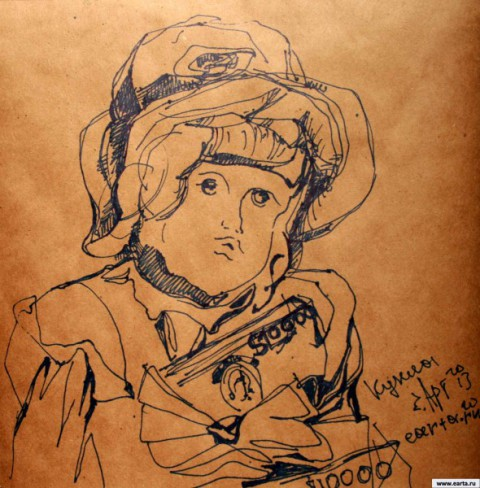 Кукла earta.ru рисунок / набросок / фото