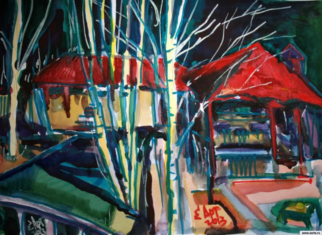 EARTA.ru Картины Наброски Зарисовки IMG_8007-1024x747 Майская Дача Акварель Живопись