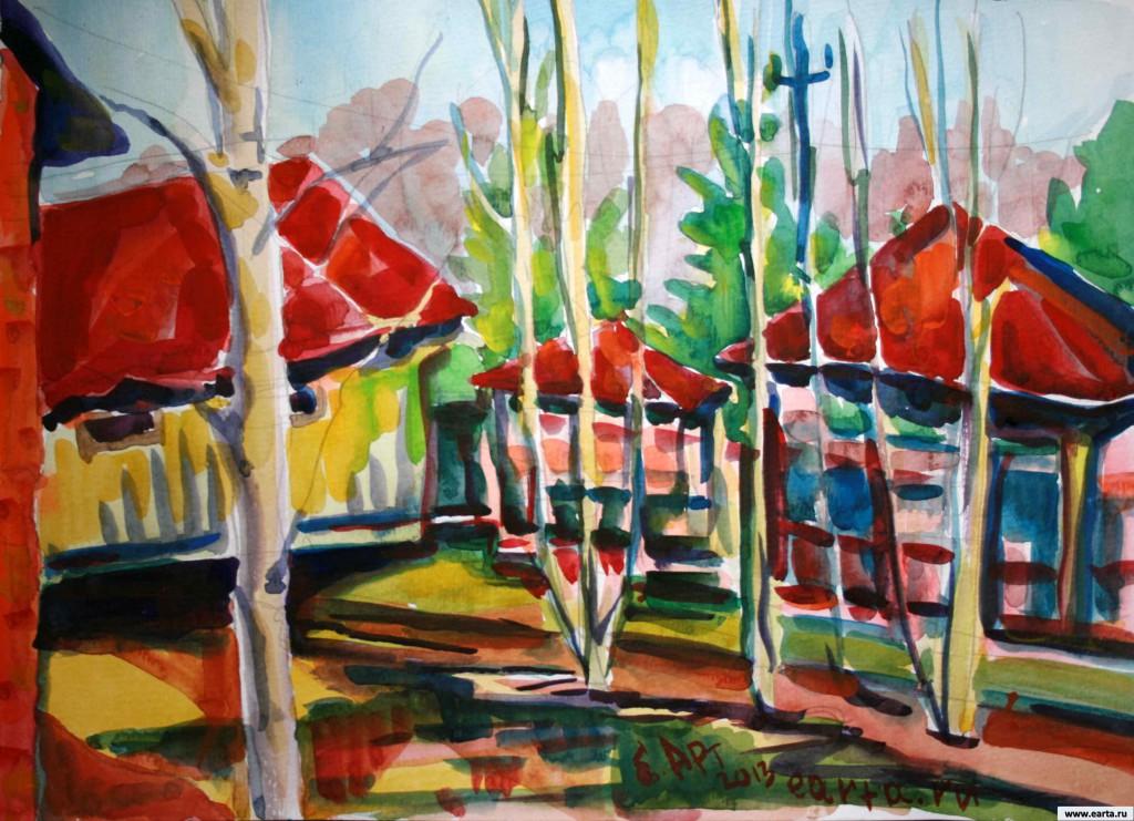 EARTA.ru Картины Наброски Зарисовки IMG_8008-1024x741 Майская Дача Акварель Живопись