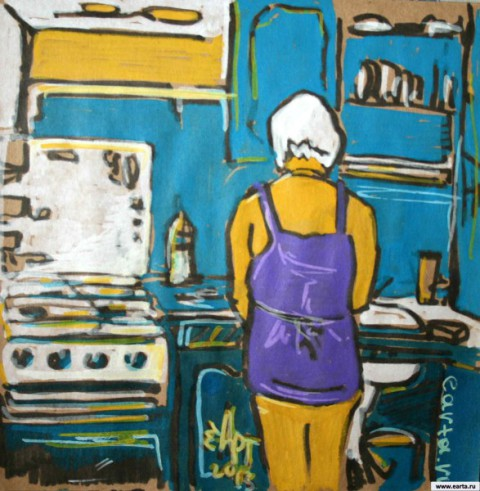 На кухне earta.ru рисунок / набросок / фото