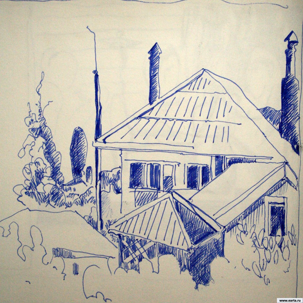 The house in the Cover earta.ru sketch / drawing / photo