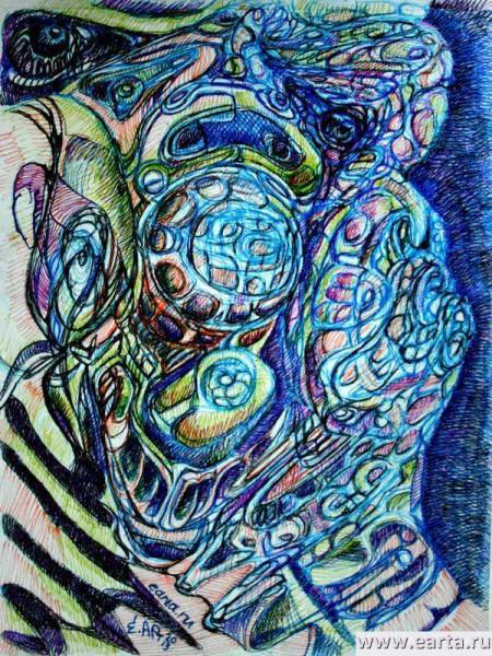 EARTA.ru Картины Наброски Зарисовки IMG_8197-450x600 Орнаментальный пришелец Uncategorized
