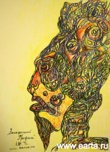 EARTA.ru Картины Наброски Зарисовки IMG_8203-433x600 Загадочный профиль человека earta.ru рисунок/набросок/фото Uncategorized
