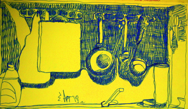 Инструмент повара (бумага/маркер А4) earta.ru рисунок/набросок/фото