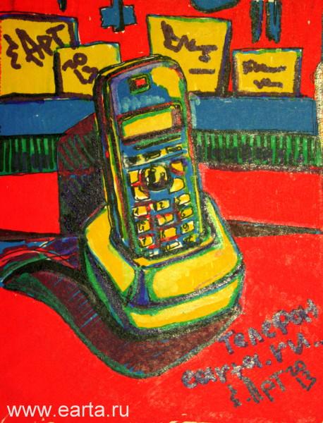 Телефон (бумага/маркер А4) earta.ru рисунок/набросок/фото/скоростное рисование