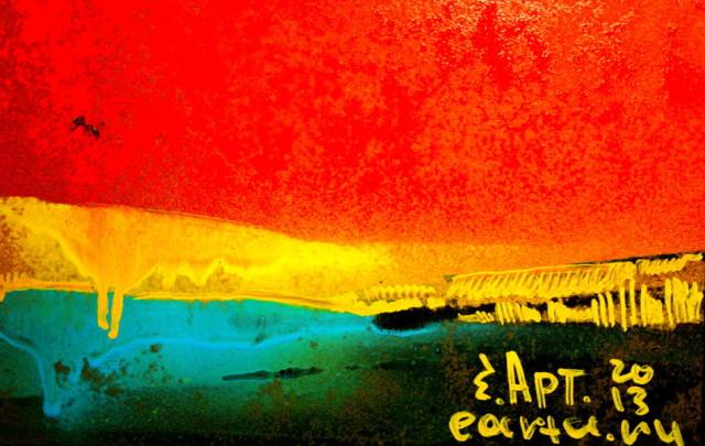 Красный закат в степи earta.ru рисунок/набросок/фото/