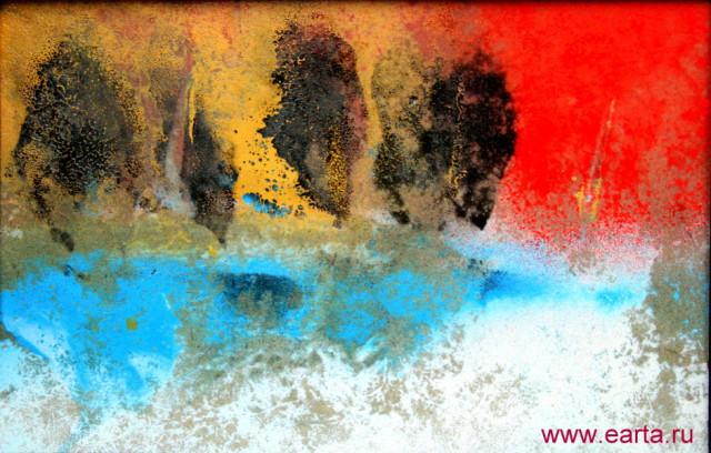 Зимний пруд в оттепель пейзаж (23/16 см) earta.ru рисунок/набросок/фото/