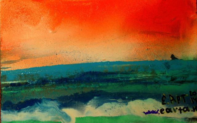Холодная морская даль пейзаж рисунок/набросок/фото