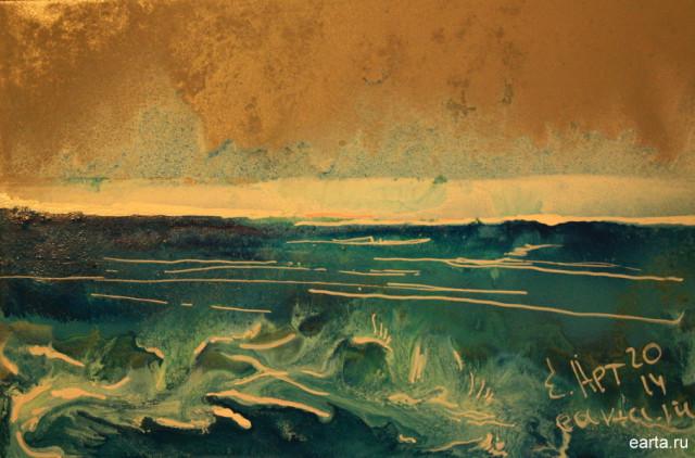 Море весенний этюд 1 рисунок\набросок\фото