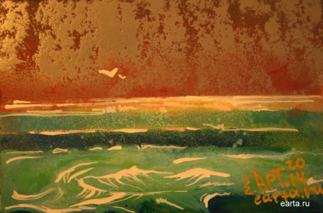 Море весенний этюд 2 рисунок\набросок\фото