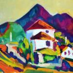 Mountains Koktebel Koktebel 2013 canvas / oil painting picture / photo рисунок/фото