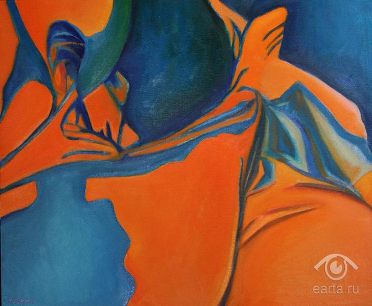 """Картина маслом на холсте, пейзаж """"Минет"""" (Е.Арт) 2013г Москва, Электросталь"""