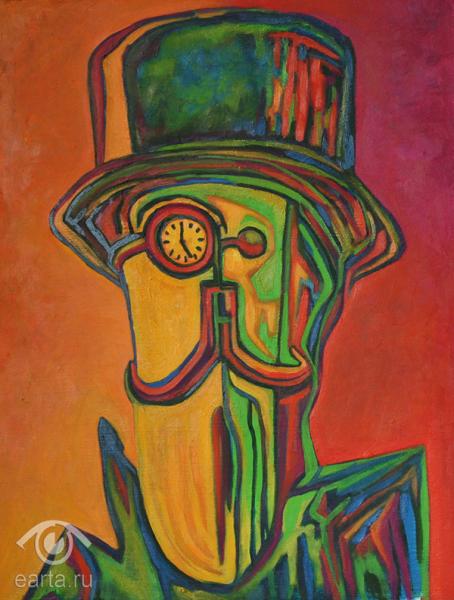 """Картина маслом на холсте, """"Железный человек"""" (Е.Арт) 2013г Москва"""