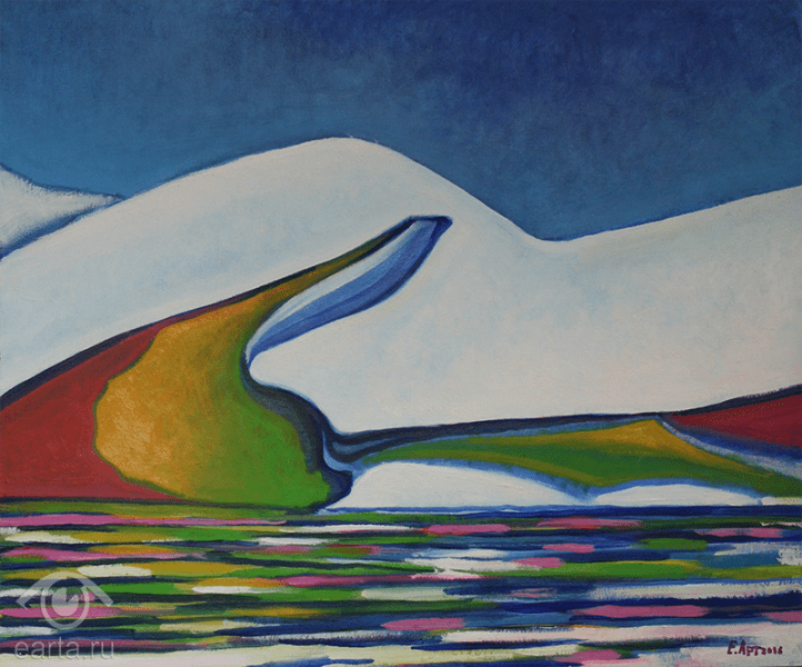 "Картина маслом на холсте, пейзаж ""Айсберг(Е.Арт) 2016г"